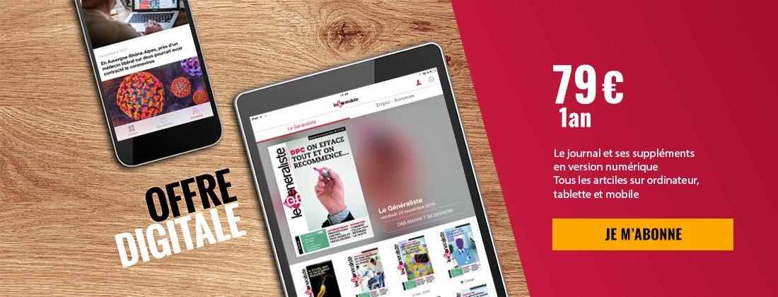 Offre Digitale - Le Généraliste : 79€ par an